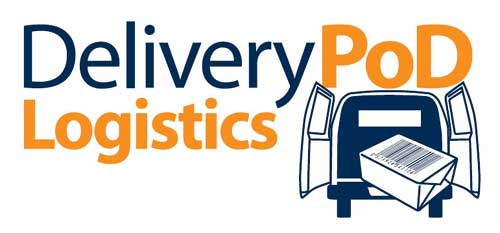 DeliveryPoD Logistics Logo for our off the shelf Logistics Tracking System
