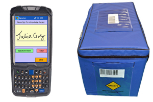 Transport Bag Tracking with Mobile Computers and Barcodes